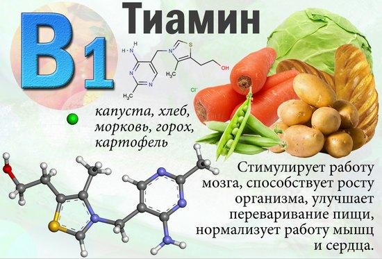 Функции витаминов В1 и В2